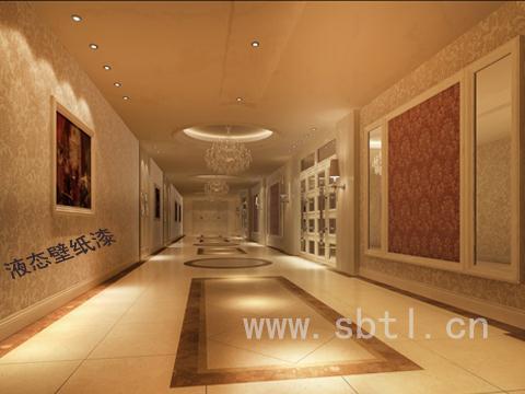 液态壁纸漆施工案例-凤城宾馆