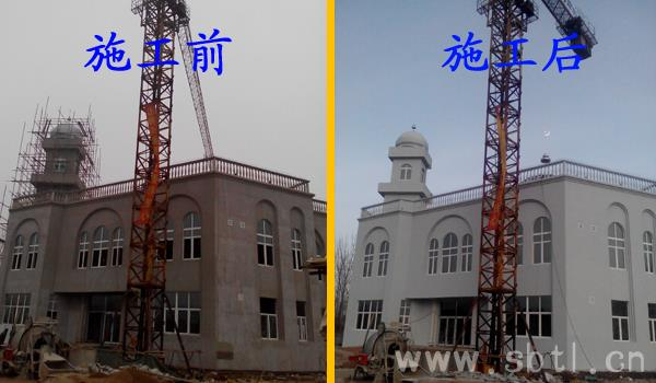raybet电竞竞猜app外墙弹涂压扁施工案例平罗镇清真寺